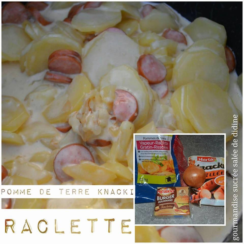 pomme de terre knackis raclette recettes cookeo. Black Bedroom Furniture Sets. Home Design Ideas