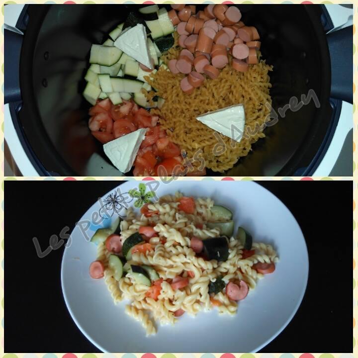 Populaire One pot pasta légumes knackis | Recettes Cookeo FI57