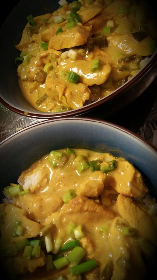 poulet au curry cr me de coco recettes cookeo. Black Bedroom Furniture Sets. Home Design Ideas